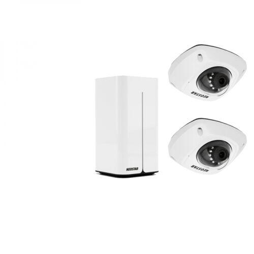 NEOSTAR WLAN Kompletset mit 2x 4MP WIFI IP Dome-Kameras, inkl.1TB
