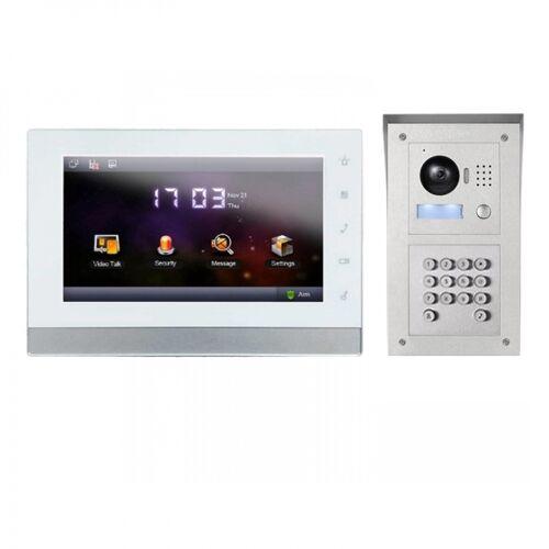 """IP Video Klingelanlage mit 7"""" LCD und Aufputz Außenstation mit Code-Funktion-IPSET01C"""