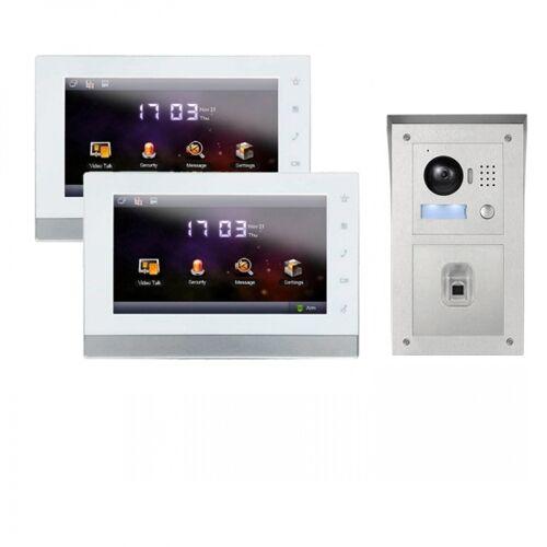 """IP Video Klingelanlage mit 2x7"""" LCD und Aufputz Außenstation mit Fingerprint-2IPSET01F"""