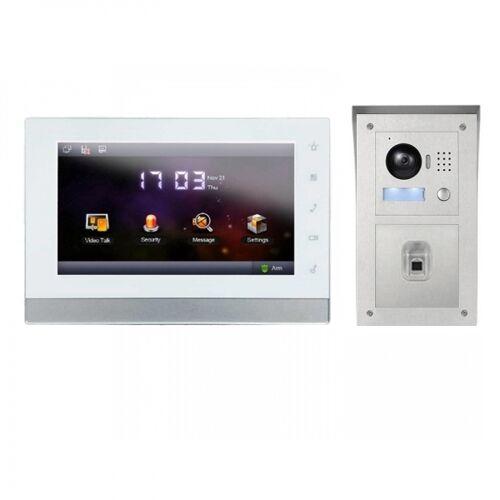 """IP Video Klingelanlage mit 7"""" LCD und Aufputz Außenstation mit Fingerprint-IPSET01F"""