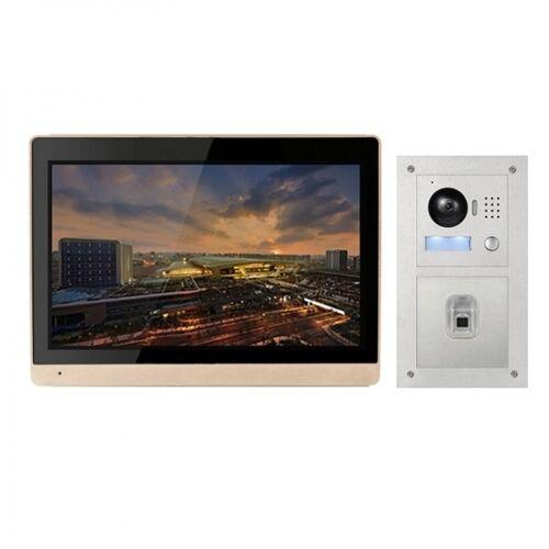 """IP Türklingel mit 10"""" LCD und Unterputz-Außenstation mit Fingerprint-IPSET1011F"""