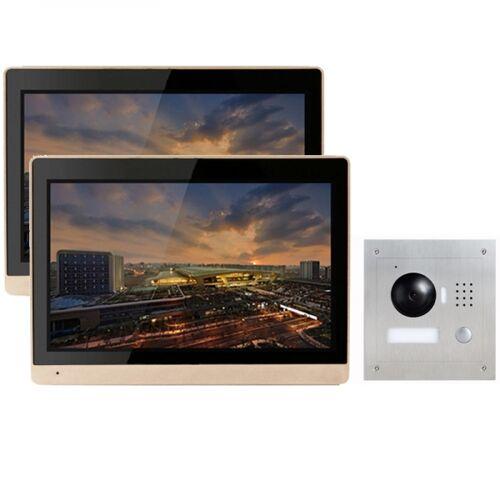 """IP Türklingel mit Kamera mit 2x10"""" LCD für 1-Familienhaus und Unterputz Außenstation-2IPSET1011"""