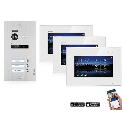 WLAN Videotürsprechanlage BALTER EVO 2-Draht BUS für 3-Familienhaus