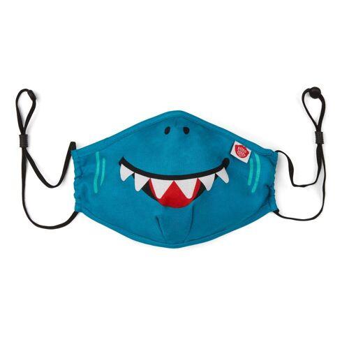Affenzahn   Mund Nasen Maske Hai   AFZ-FAM-001-036 blau, 1