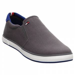 Tommy Hilfiger Iconic Slip On   Slipper   Herren grau, 41