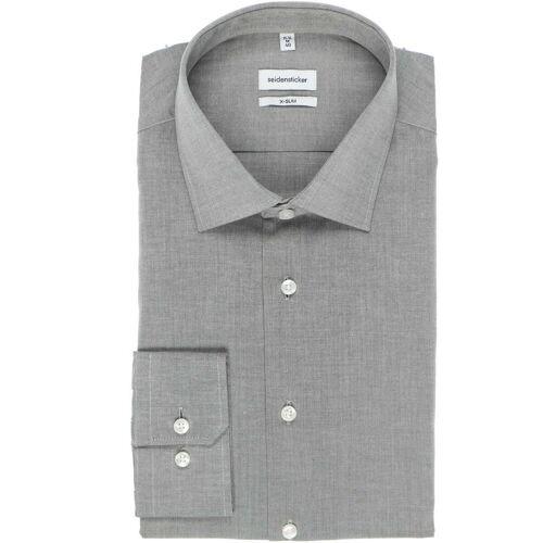 Seidensticker X-Slim Hemd grau, Einfarbig