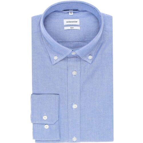 Seidensticker Slim Fit Hemd Extra langer Arm (71cm) blau