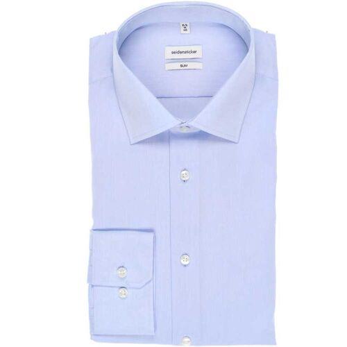 Seidensticker Slim Fit Hemd Extra langer Arm (71cm) bleu