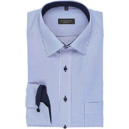 ETERNA Comfort Fit Hemd blau/weiss, Zündholzstreifen