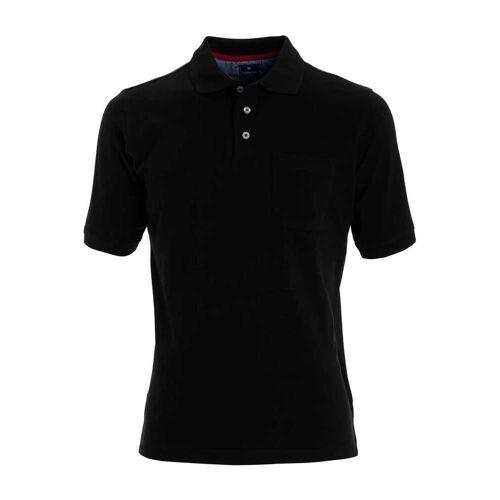 Redmond Casual Poloshirt Kurzarm schwarz, Einfarbig