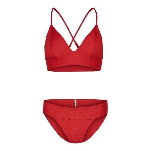 ONLY Triangel Bikini Damen Rot Female XL