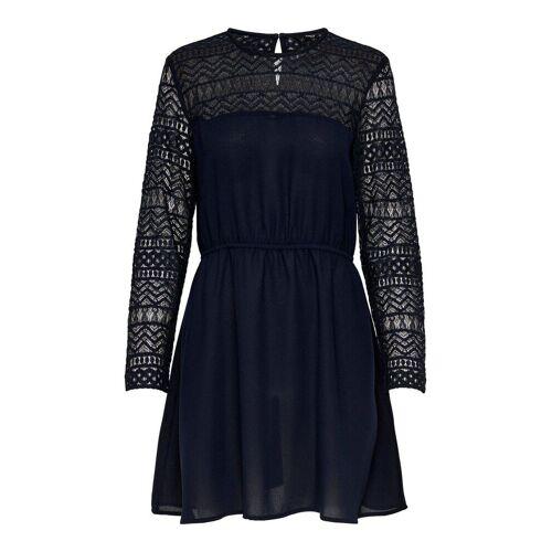 ONLY Spitzenärmel Kleid Damen Blau