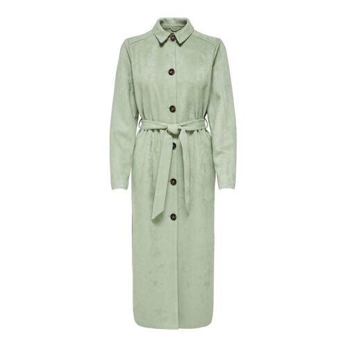 ONLY Wildlederimitat Mantel Damen Grün Female M