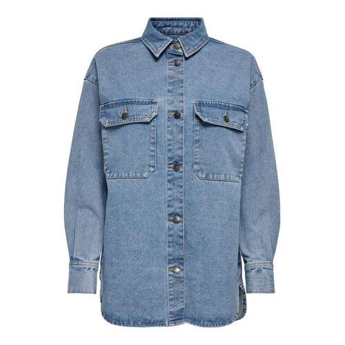 ONLY Oversize Jeanshemd Damen Blau Female L