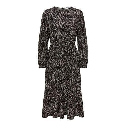 ONLY Wadenlanges Kleid Damen Schwarz Female S