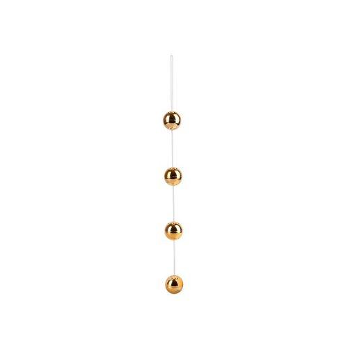 """Orion """"Lustkugelkette"""" aus 4 Liebeskugeln, 116 g, Ø 3 cm, Gold, ABS"""