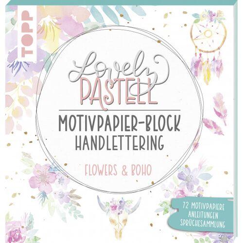 Lovely Pastell Handlettering Motivpapierblock Flowers & Boho