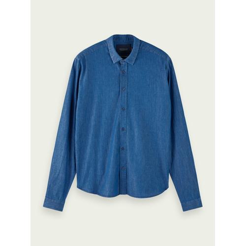 Scotch & Soda Figurbetontes Jeanshemd aus 100% Baumwolle Blau Herren SScotch & Soda Figurbetontes Jeanshemd aus 100% Baumwolle