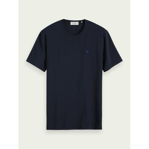 Scotch & Soda Klassisches T-Shirt Blau Herren SScotch & Soda Klassisches T-Shirt