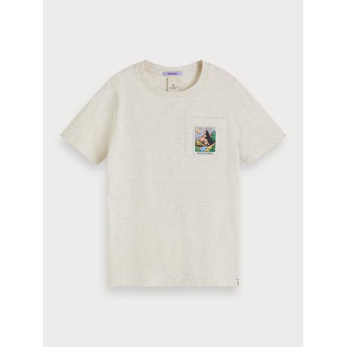 Scotch & Soda T-Shirt mit landschaftlichem Artwork Grau Herren 10Scotch & Soda T-Shirt mit landschaftlichem Artwork