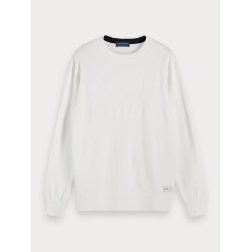 Scotch & Soda Strukturierter Streifen-Pullover Weiß Herren SScotch & Soda Strukturierter Streifen-Pullover