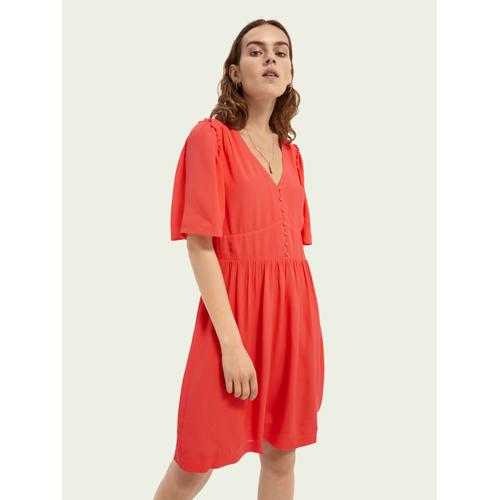 Scotch & Soda Tailliertes Kleid Rot Damen MScotch & Soda Tailliertes Kleid