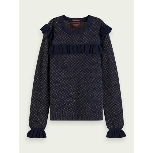 Scotch & Soda Taillierter Lurex-Pullover Blau Damen 14Scotch & Soda Taillierter Lurex-Pullover