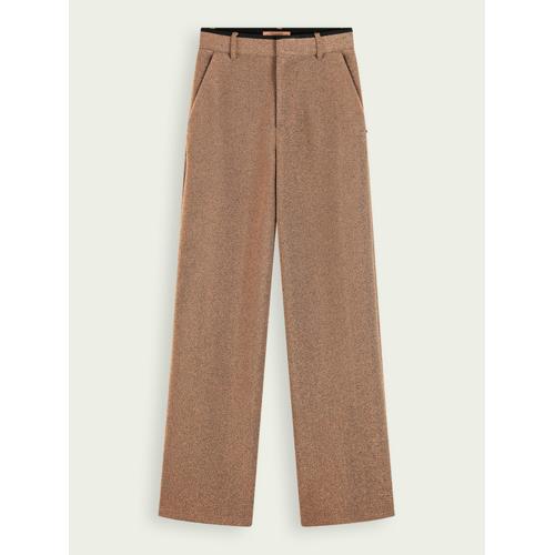 Scotch & Soda Metallic-Hose mit weitem Bein und Stretchanteil Braun Damen XLScotch & Soda Metallic-Hose mit weitem Bein und Stretchanteil