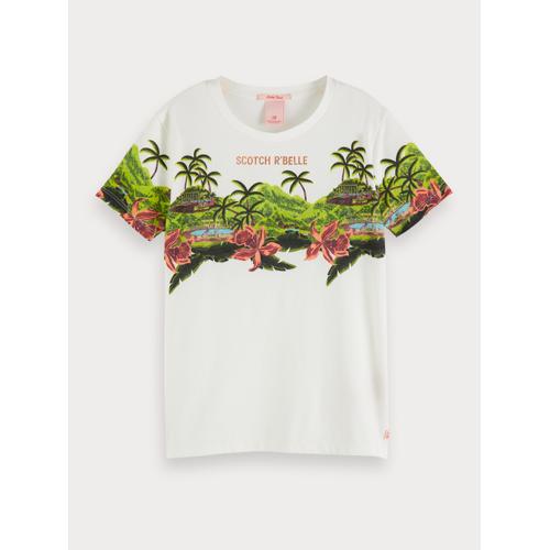 Scotch & Soda T-Shirt mit landschaftlichem Artwork-Print Weiß Damen 10Scotch & Soda T-Shirt mit landschaftlichem Artwork-Print