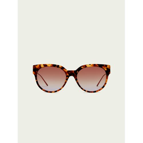 Scotch & Soda Broadway– Azetat-Sonnenbrille in Schildpattoptik Braun Damen OSScotch & Soda Broadway– Azetat-Sonnenbrille in Schildpattoptik
