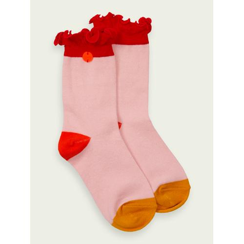 Scotch & Soda Socken mit Rüschen Rosa / Pink Damen 14-16Scotch & Soda Socken mit Rüschen
