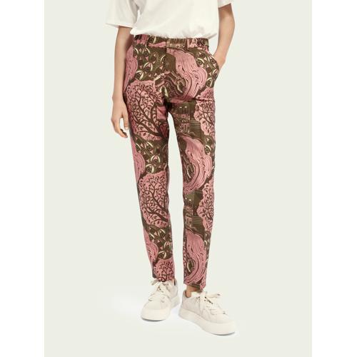 Scotch & Soda Lowry Slim Fit Hose mit Print Rosa / Pink Damen 27Scotch & Soda Lowry Slim Fit Hose mit Print