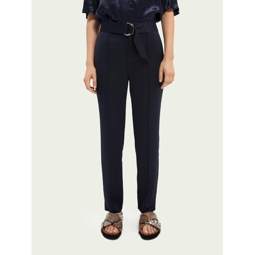 Scotch & Soda Smarte Hose mit Gürtel Blau Damen MScotch & Soda Smarte Hose mit Gürtel