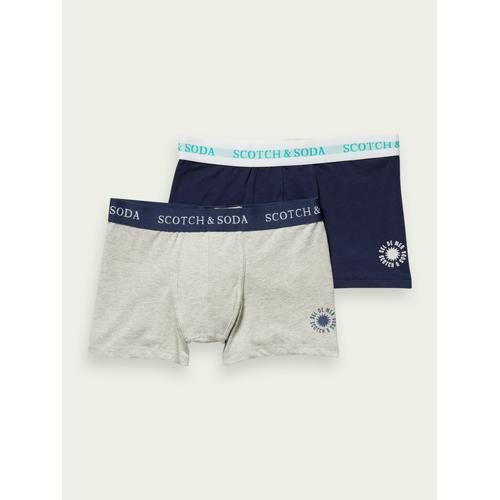 Scotch & Soda Boxershorts aus Baumwollstretch im 2er-Pack Blau Herren 4Scotch & Soda Boxershorts aus Baumwollstretch im 2er-Pack