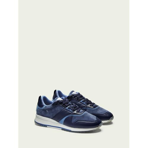 Scotch & Soda Vivex– Sneaker aus Wildleder und Leder Blau Herren 45-EU-MScotch & Soda Vivex– Sneaker aus Wildleder und Leder