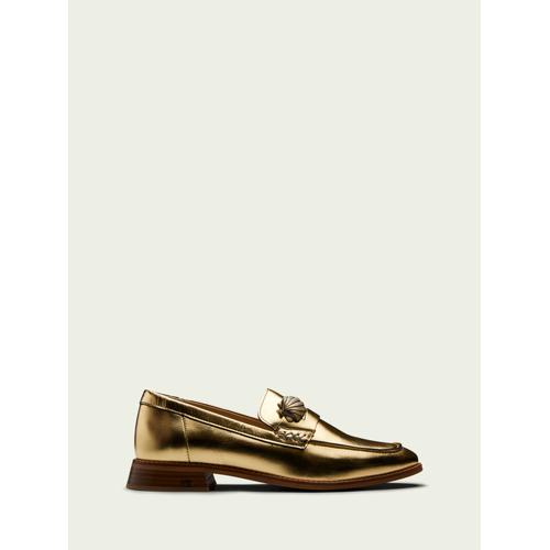 Scotch & Soda Loel– Goldener Loafer  Damen 36-EU-LScotch & Soda Loel– Goldener Loafer