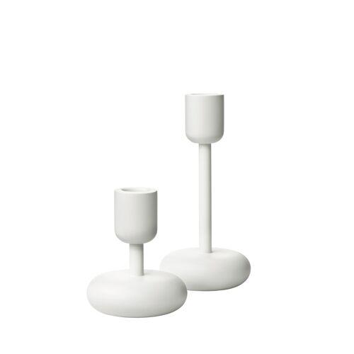 iittala Kerzenständer Set – 10,7 cm & 18,3 cm - Weiss – 2tlg. Nappula Iittala