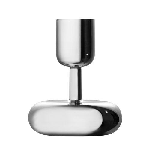 iittala Kerzenständer - 10,7 cm - Silber Nappula Iittala Grau
