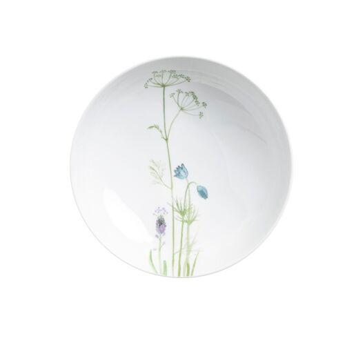 Kahla Suppenteller 21 cm Wildblume Wildblume Blau / Rot Kahla Weiß