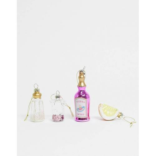 Sass & Belle – Christbaumkugeln mit Tequila-Mixdesigns im Multipack x 4-Mehrfarbig No Size