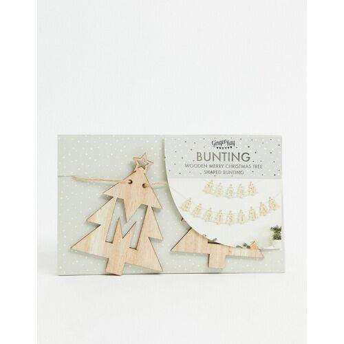 Ginger Ray – Girlande mit Weihnachtsbaum-Motiv-Braun No Size