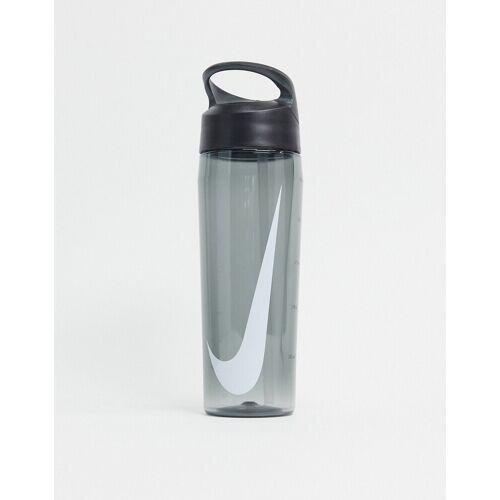 Nike – Hypercharge – Trinkflasche mit Strohhalm in Grau, 24oz No Size