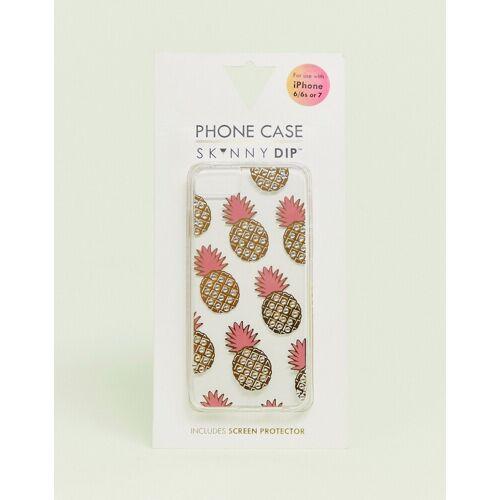 Skinnydip – Hülle für iPhone 6/6s/7/8 mit Ananas-Design-Gelb No Size