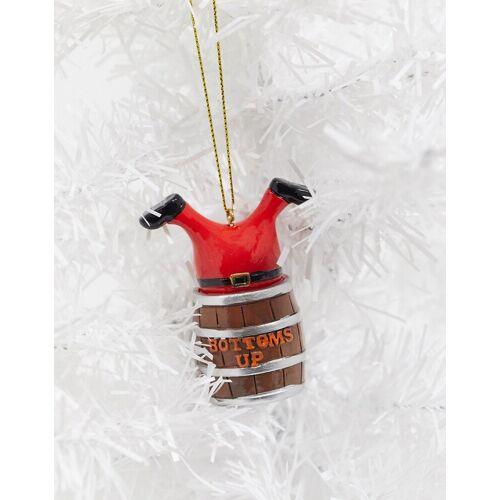 Typo – Weihnachtsdeko mit Weihnachtsmann-Design-Mehrfarbig No Size