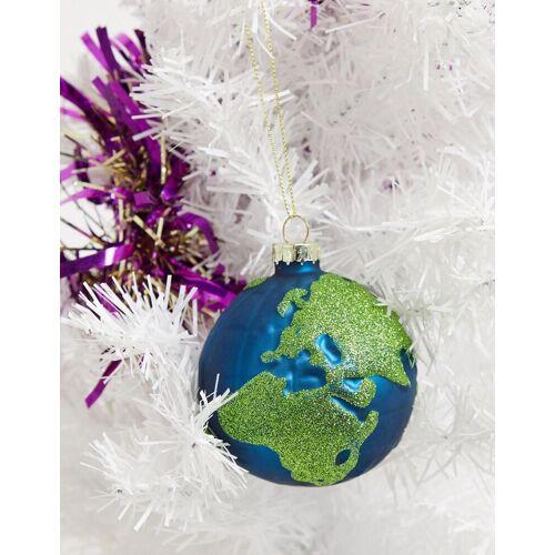 Typo – Weihnachtskugel in Weltkugel-Design-Mehrfarbig No Size