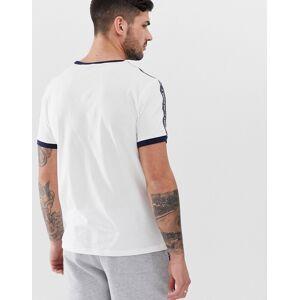 Tommy Hilfiger – Authentisches, weißes Lounge-T-Shirt mit seitlichen Logostreifen XL