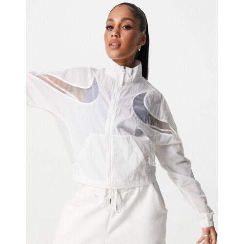 Nike – Air Max Day – Gewebte Jacke mit umgedrehtem Swoosh-Logo in Weiß S