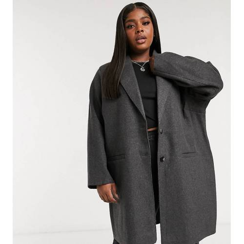 Only Curve – Oversize-Mantel in Grau XL