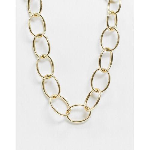 Pilgrim – Klobige, goldfarbene Halskette No Size
