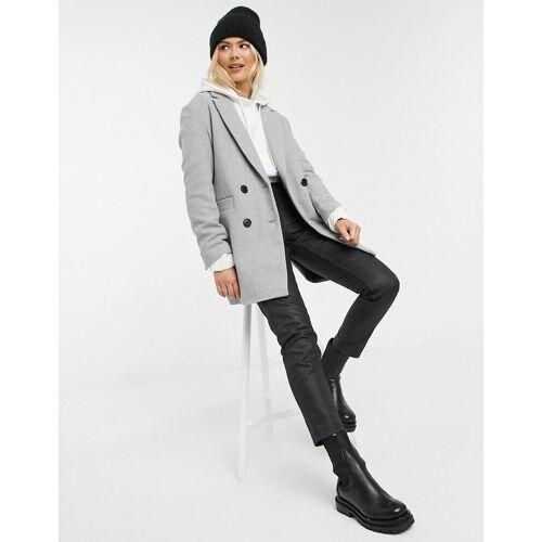 Pimkie– Zweireihiger Mantel in Grau M
